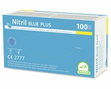 Einweghandschuhe Nitril puderfrei blau PLUS extrem stabil Größe S, 100 Stk