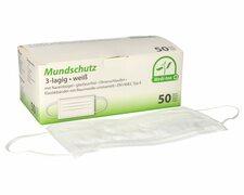 Mundschutzmasken OP- medizinische Gesichtsmasken 3-lagig EN 14683 weiß 50 Stk.