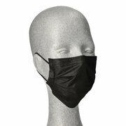Mundschutzmasken OP- medizinische Gesichtsmasken 3-lagig EN14683 schwarz 50 Stk.