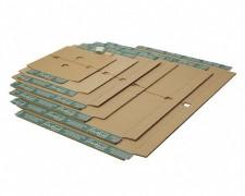 progressBOX Fixiereinlage Premium für Versandkarton, 390x290 mm, braun