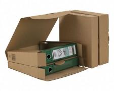Ordner-Transport-Box für 80mm Ordner mit Steckverschluss, braun, 320x288x80mm