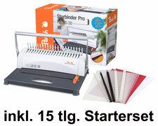 PEACH Bindemaschine Star Binder Pro, bis 350 Blatt inkl.  15 tlg. Starterset