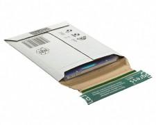 Wellpappe-Versandtasche W02.00, 145x190x -25mm, extrem stabil, für 1-2 CDs weiß