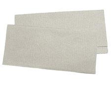 Papierhandtuch Falthandtuch 25x23cm, 1 lagig, hellgrau, geprägt,  250 Stk.