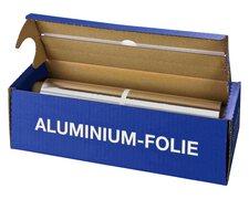 Alufolie in praktischer Spenderbox mit Abreiss-Schiene, 30 cm x 150 m, 11 µm