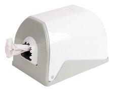 Handtuchspender für Papierrollen mit Innenabwicklung weiß