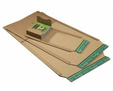 Universalverpackung PP B02.01 braun, 147x129x 1-55mm, Selbstklebeverschluss