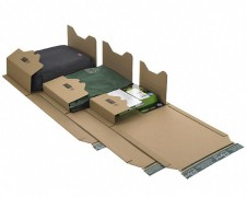 Universalverpackung PP B22.02 braun, 217x155x 1-60mm, für A5, SK-Verschluss