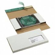 CD/DVD/BLURAY Mailer, DIN lang, für 1 Disk mit JEWELCASE,  Sichtfenster links