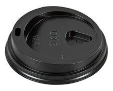Domdeckel schwarz für Pappbecher - Coffee to go - 200ml mit 80mm Ø,  75 Stk.