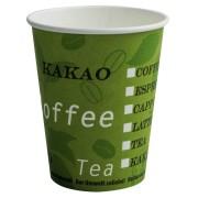 BIO Kaffeebecher Getränkebecher Pappbecher Bio Green 300 ml kompakt 50 Stk.