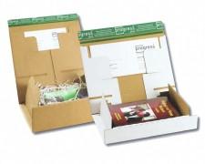Post-Versandkarton PACKBOX-M SK-Verschluss Aufreißfaden 305x210x110mm braun, A4