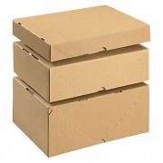 Stülpdeckelkarton aus Wellpappe braun, höhenverstellbar, 2-teilig, 305x215x 50mm