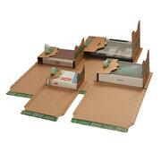 Universalverpackung PP B52.14 braun, 335x275x1-80mm, für C4+, 3x SK-Verschluss