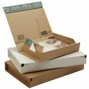 Post-Versandkarton PACKBOX-XS SK-Verschluss Aufreißfaden 215x155x43mm weiß, A5+