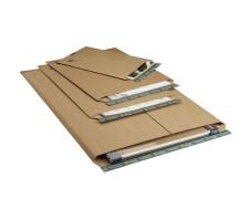 Wellpappe-Versandtasche W01.13, 735x1055x -55mm stabil für Kalenderversand braun