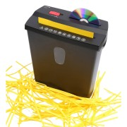 Olympia PS 38 CD Aktenvernichter Streifenschnitt 6 Blatt Kreditkarte CDs Sensor