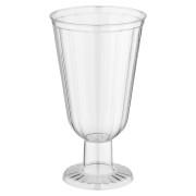 Eiskaffeeglas Eisbecher 250ml geriffelte Oberfläche edle Kelchform PS,   8 Stk.