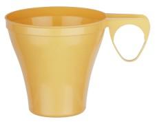 Premium Espressotasse Henkeltasse Kaffeetasse 8cl   80ml beige PS, 40 Stk.
