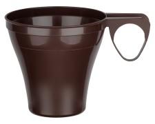 Premium Espressotasse Henkeltasse Kaffeetasse 8cl   80ml braun PS, 40 Stk.
