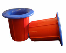 Abroller-Set für Stretchfolie Handwickelfolie, einfache Anwendung, rot