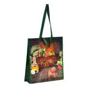PP Woven Mehrweg Tragetaschen Shopper Vegetables nachhaltig 38+10x40 cm