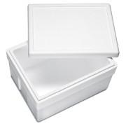 Isolierbox mit Deckel aus Styropor EPS, 540 x 420 x 320 mm, 45 Liter