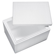 Isolierbox mit Deckel aus Styropor EPS, 570 x 445 x 350 mm, 40,5 Liter