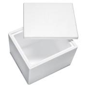 Isolierbox mit Deckel aus Styropor EPS, 480 x 415 x 350 mm, 35 Liter