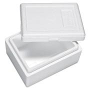 Isolierbox mit Deckel aus Styropor EPS, 210 x 165 x 115 mm, 1,5 Liter