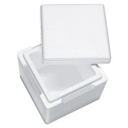 Isolierbox mit Deckel aus Styropor EPS, 225 x 225 x 195 mm, 3,5 Liter