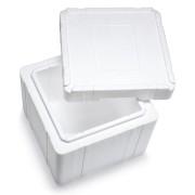 Isolierbox mit Deckel aus Styropor EPS, 390x 390 x 329 mm, 18,8 Liter
