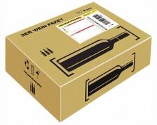Post Prepaid Weinpaket für  3 Flaschen Wein Most, Säfte, Flaschenhöhe max 355mm