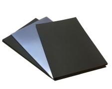PAVO Rückwände schwarz und Deckblätter transparent  A4, 50 Stk.