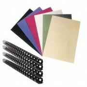 Rückwände, Deckblätter transparent und Binderücksen-Set  A4, 75 Stk.