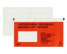 DOCUFIX Dokumententaschen *Lieferschein/Rechnung*, DIN Lang 240x115mm,  100 Stk.