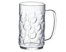 Mehrweg Bierkrug Bierkrüge Bierglas glasklar bruchfest 0,5l 500ml Eichstrich