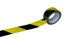 1-PACK Signalband Markierungsband Warnklebeband gelb / schwarz 50mm x 66 Meter