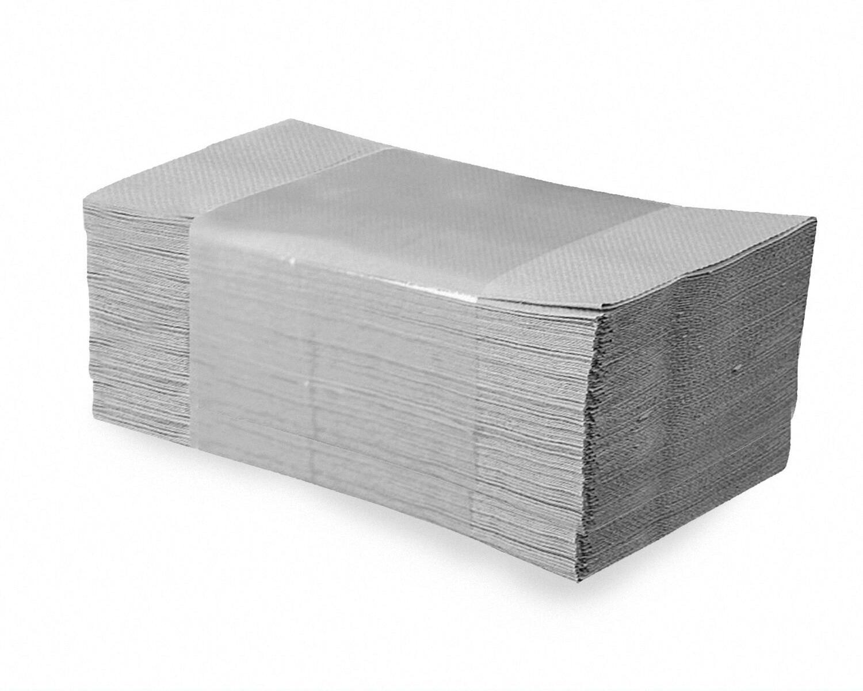 Falthandtücher Papierhandtuch 25x23cm 1-lagig natur geprägt Zick Zack, 5000 Stk.