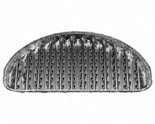 Alu-Grillpfannen Grillschalen BBQ halbrund 32,5 x 19cm, wiederverwendbar, 3 Stk.
