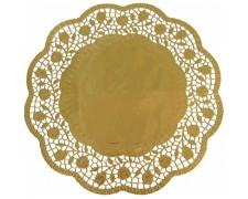 Deko-Tortenspitzen rund, gold, Ø 30 cm, 4 Stk.