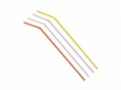 Trinkhalme Flexhalme, 240 mm Ø 5 mm, bunt gemischt, 250 Stk.