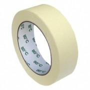 Kreppband Kreppklebeband Montageband PLUS, bis 80° C beige, 30mm x 50m