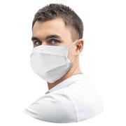 Mundschutz Mundmaske aus Airlaid stoffähnlich atmungsaktiv weiß, 20 Stk.