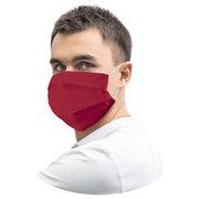 Mundschutz Mundmaske 18 x 9,5 cm aus Airlaid stoffähnlich bordeaux-rot, 20 Stk.
