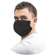 Mundschutz Mundmaske aus Airlaid stoffähnlich atmungsaktiv schwarz, 20 Stk.