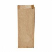 Papierfaltenbeutel Papiertüten braun 15+7 x 42 cm für ca. 3 kg Inhalt, 500 Stk.