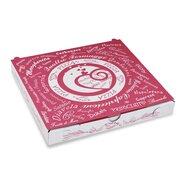Pizzakarton aus Mikrowellpappe mit neutralem Motiv, 24 x 24 x 3 cm, 100 Stk.