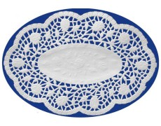 Deko-Spitzen oval, Mokkadeckchen, weiß, 18 x 13 cm, 500 Stk.
