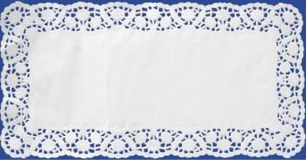 Deko-Tortenspitzen eckig, weiß, 20 x 40 cm,6 Stk.